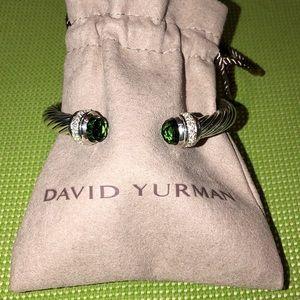 DAVID YURMAN 7mm DIAMOND PRASIOLITE CUFF BRACELET